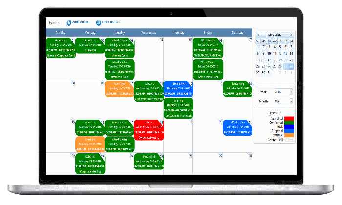 catering software events calendar